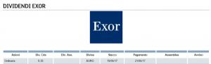 dividendi azioni exor