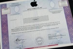 Storia delle azioni Apple