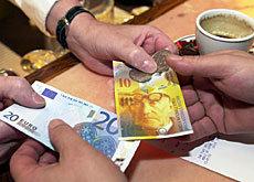 franchi svizzeri cambio